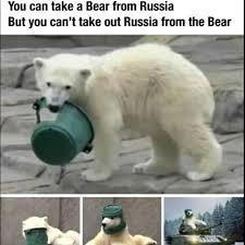 Russia bear - meme
