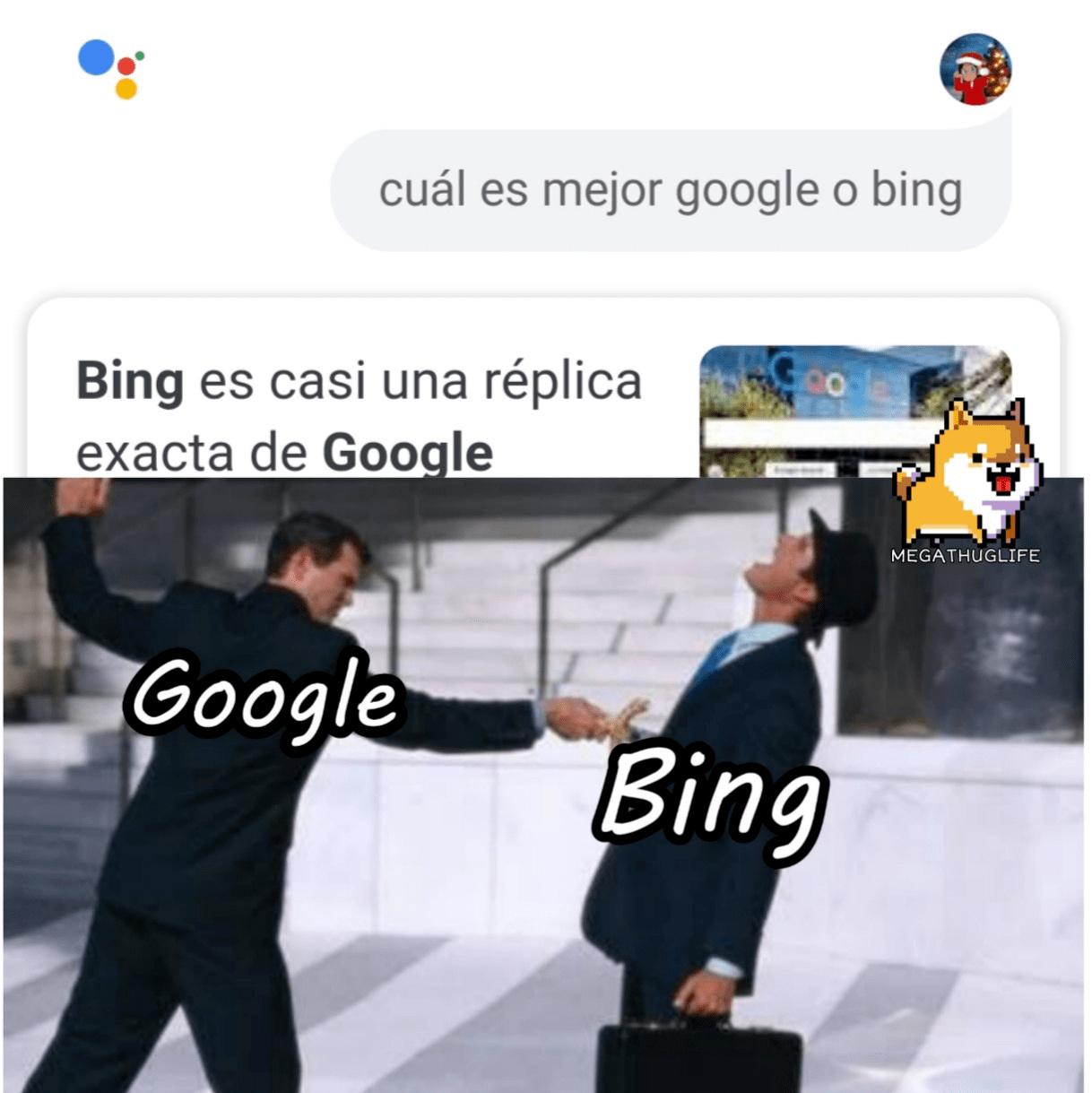 Pobre bing. - meme