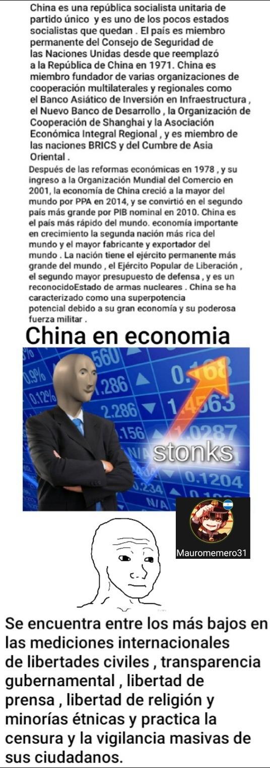 Situacion de China - meme