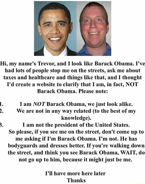 I look like Barack Obama - meme