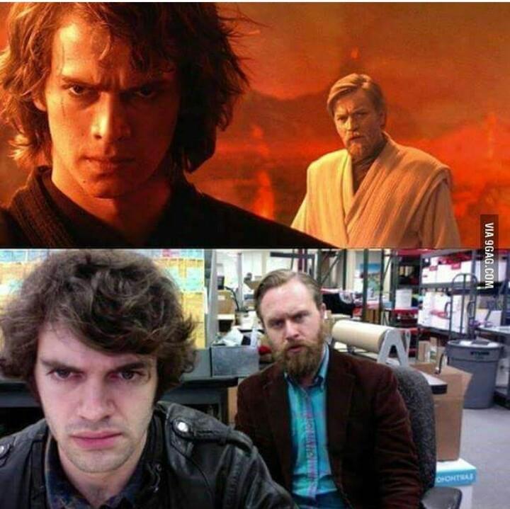 Star Wars episódio 8 o estagiário contra ataca - meme