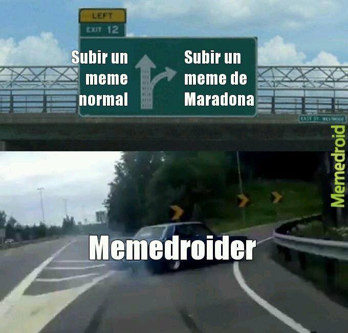 Está me cuenta como meme de Maradona xd