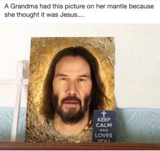 All hail Keanu - meme