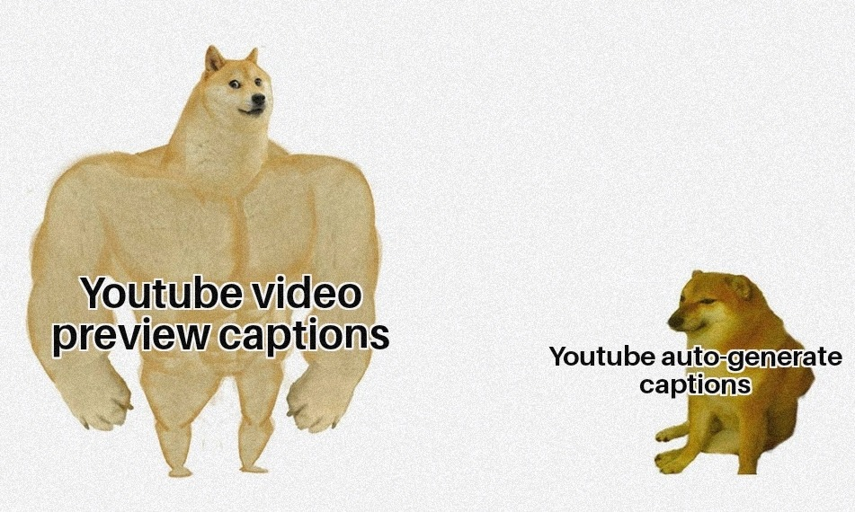 Btw, I'm talking about YouTube on mobile - meme