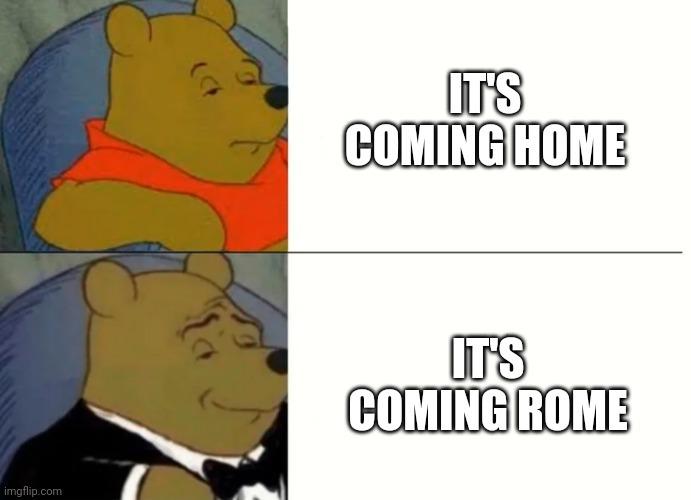 Hahahaha il trofeo viene a romaaaa - meme