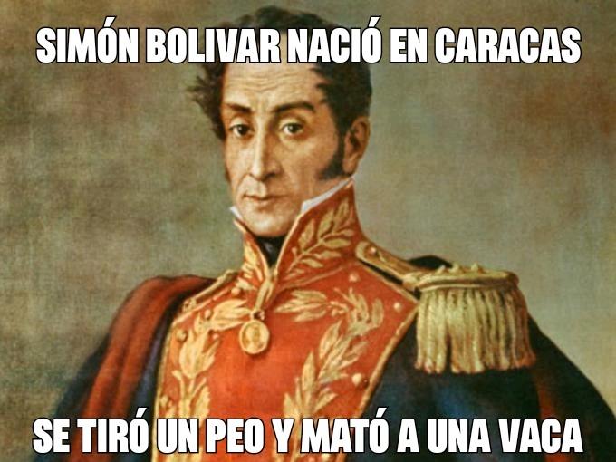 Simón Bolívar nació en Caracas - meme