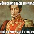 Simón Bolívar nació en Caracas