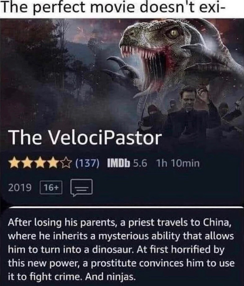 an action packed film, perfect for those nights when you dont want to watch the amazing bulk again - meme