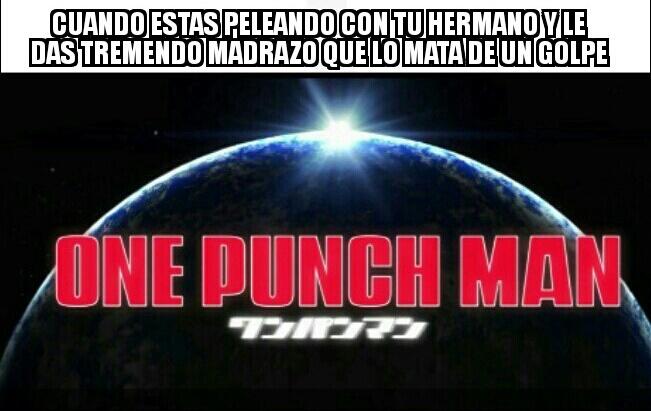 One punch.    man - meme