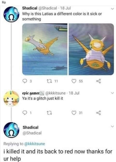 Had a friend once who used a masterball on a fucking starly - meme
