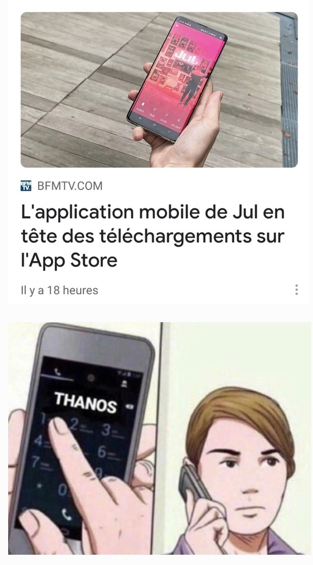 Allô Thanos ? - meme