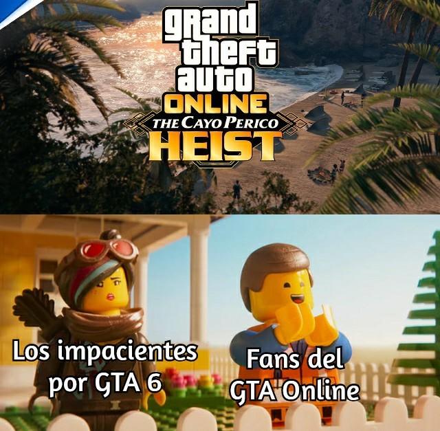 Ya Rockstar, saca GTA 6 ctm - meme