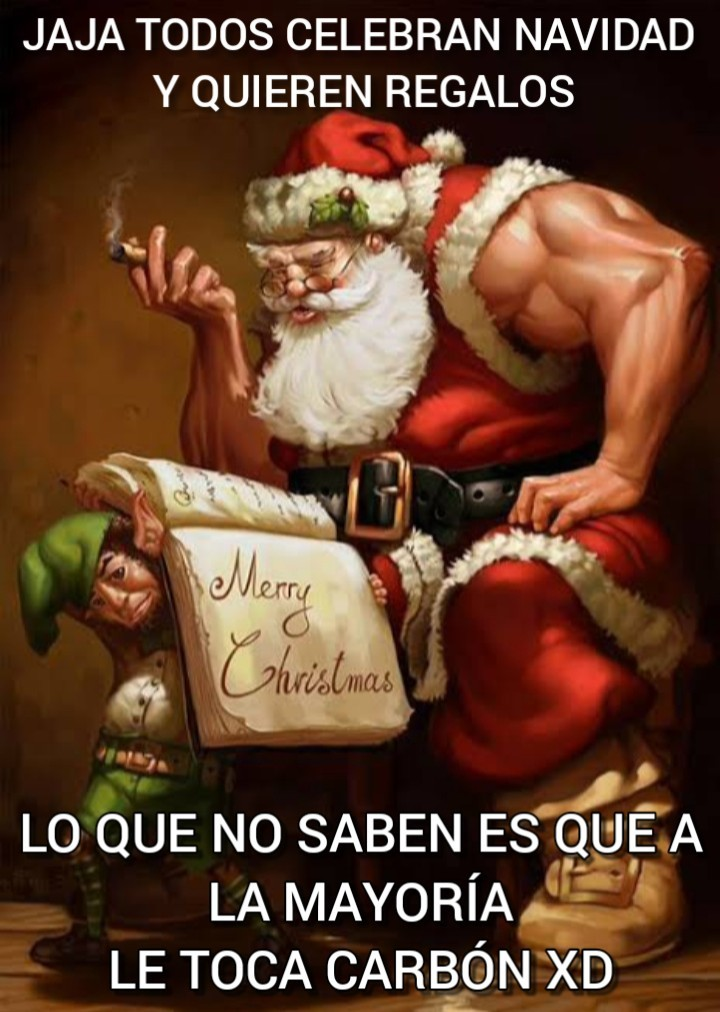 Like si te portaste bn y no estás en la lista negra de Santa - meme