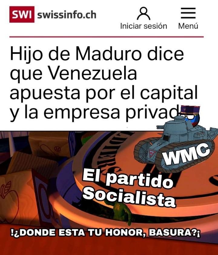 Ni sus ideas respetan los coñoemadres - meme