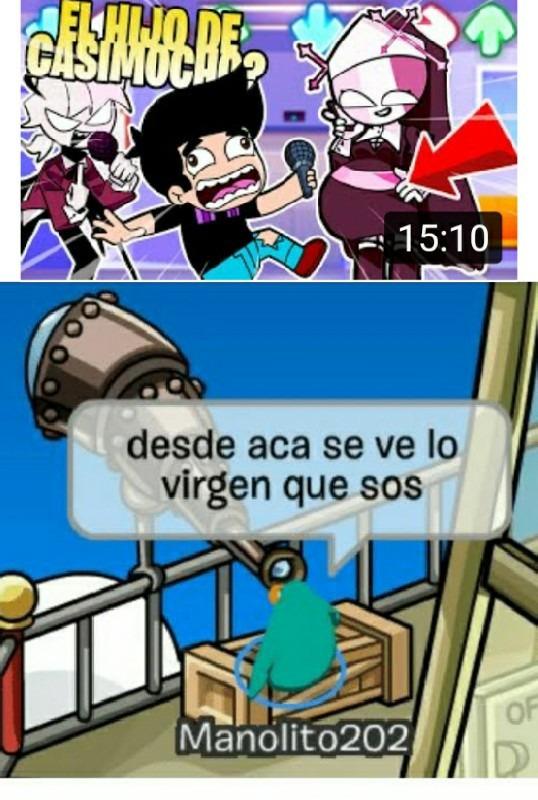 Que tremendo virgen es este tipo - meme