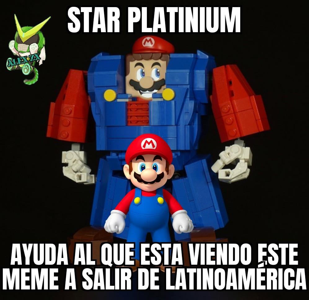 Jotaro y Star Platinium son buena gente - meme