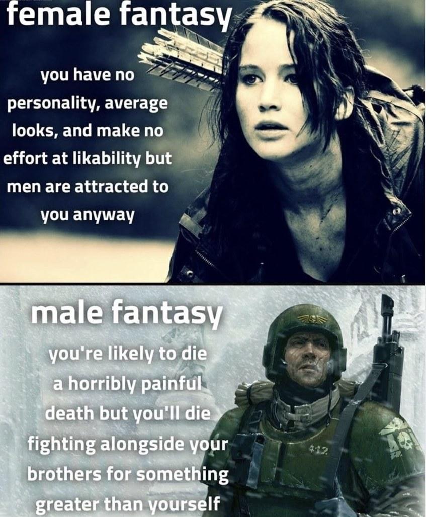 More like feminist fantasy - meme