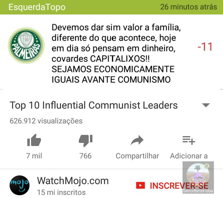 Esse comunisto tá que tá - meme