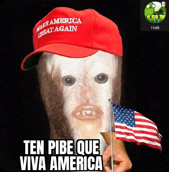 Que viva America - meme