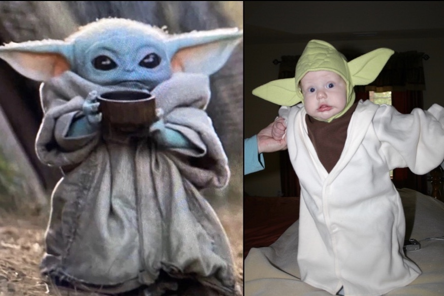 The Bride and I were 13 years ahead of Disney+ in making a Baby Yoda - meme