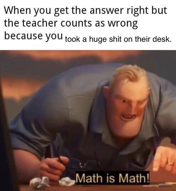 math is math - meme