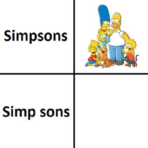 Simp sons - meme