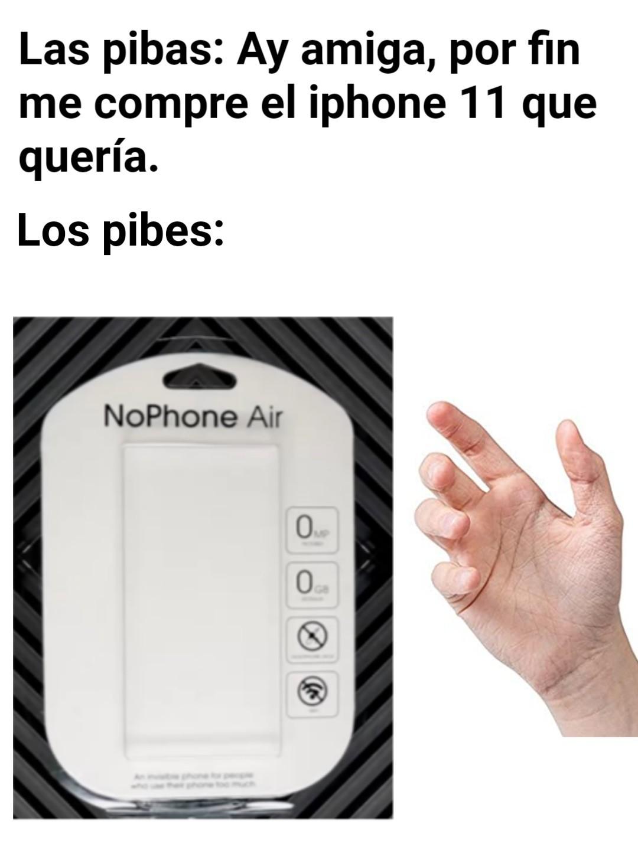 NoPhone Air - meme