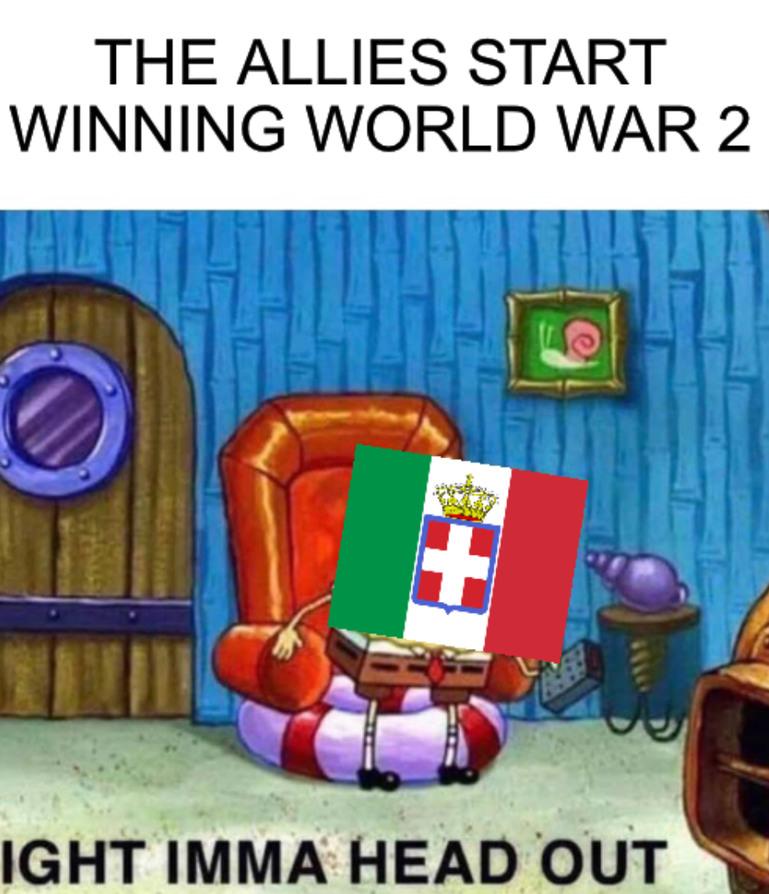 When the allies start winning.... - meme