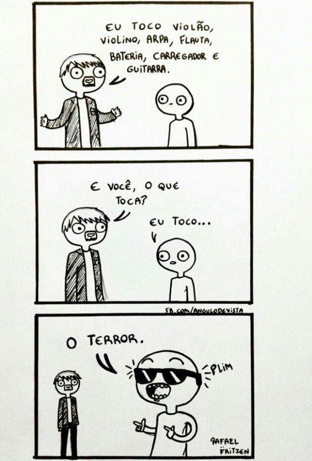 Tocando o terror! - meme
