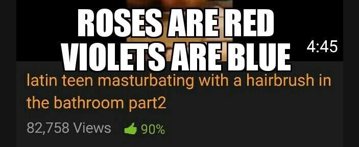 Roses are porn - meme