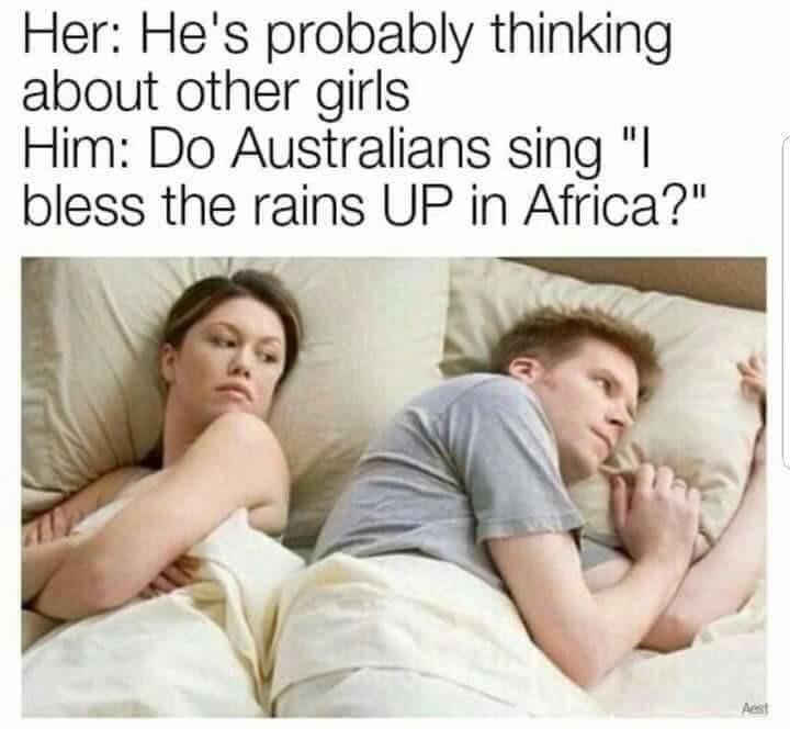 Livin in a land down under - meme
