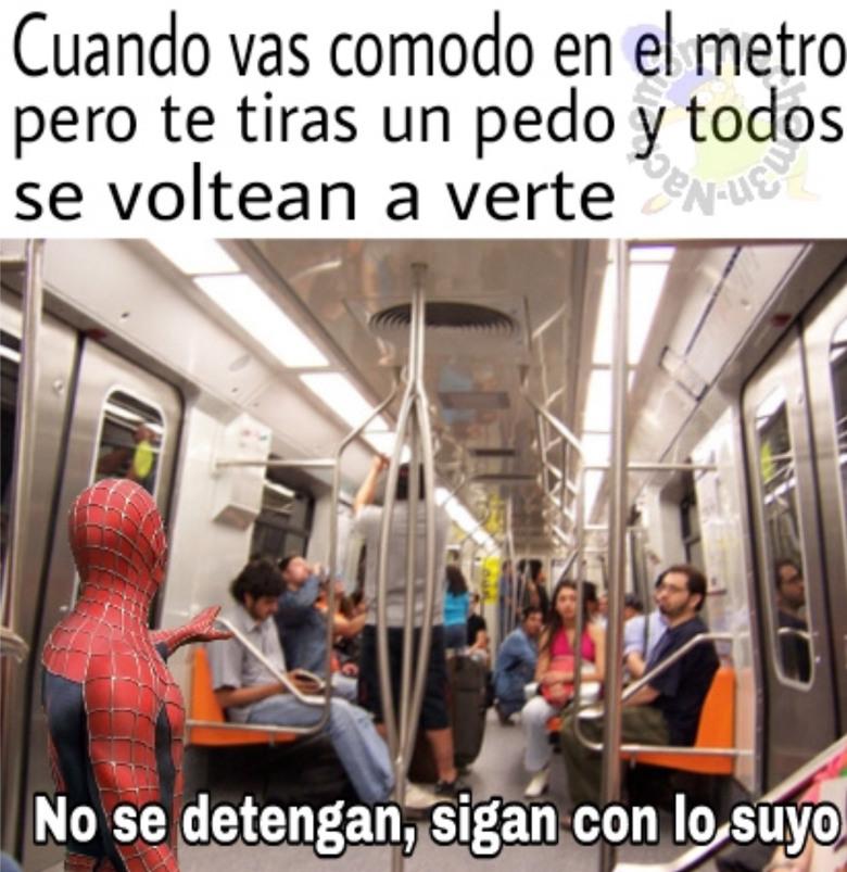 Pdt en el metro - meme