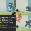 El video decía que call of duty (Mobile) era la copia de free fire