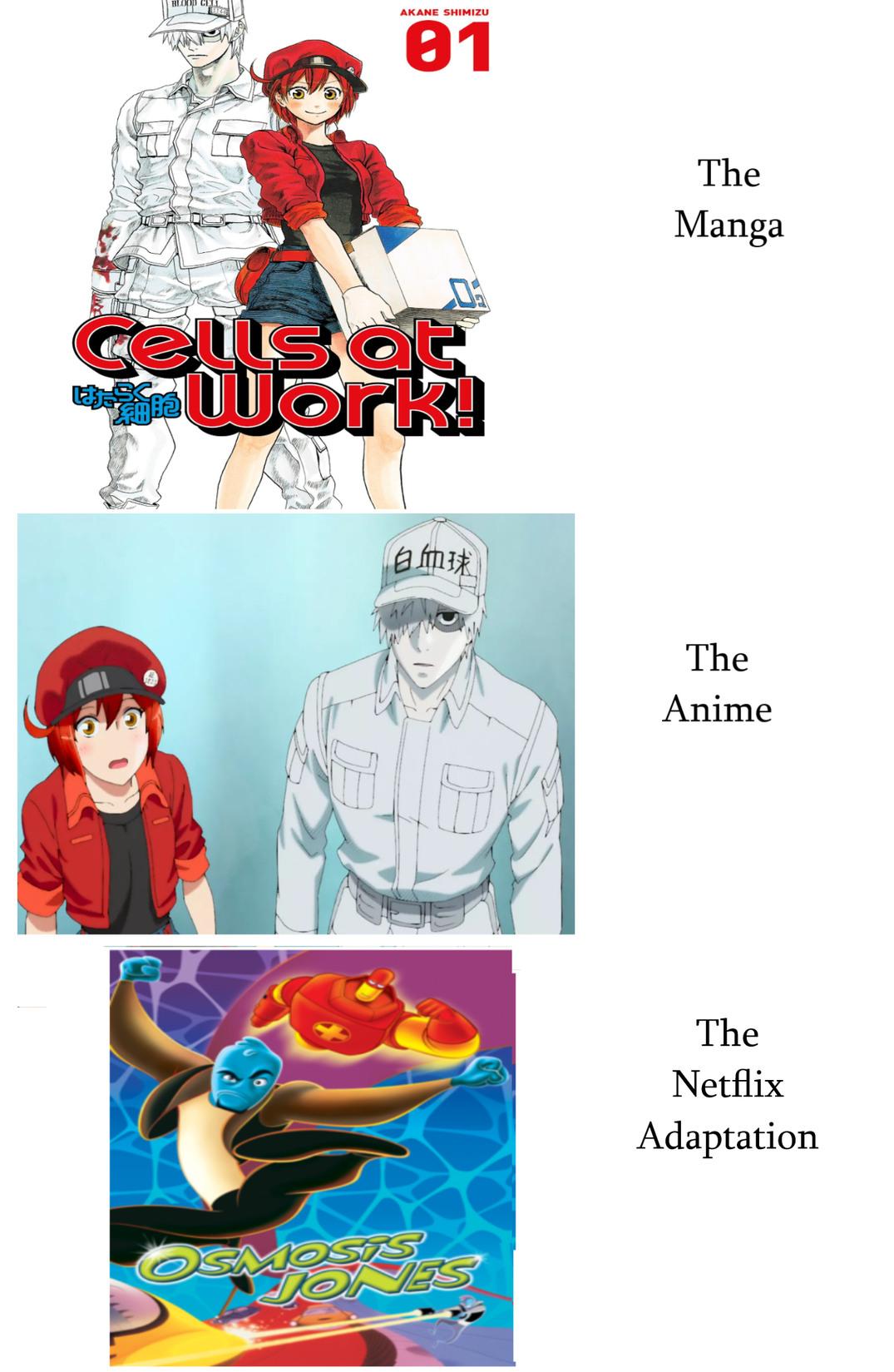 Anime Osmosis Jones, Netflix Cells at Work - meme