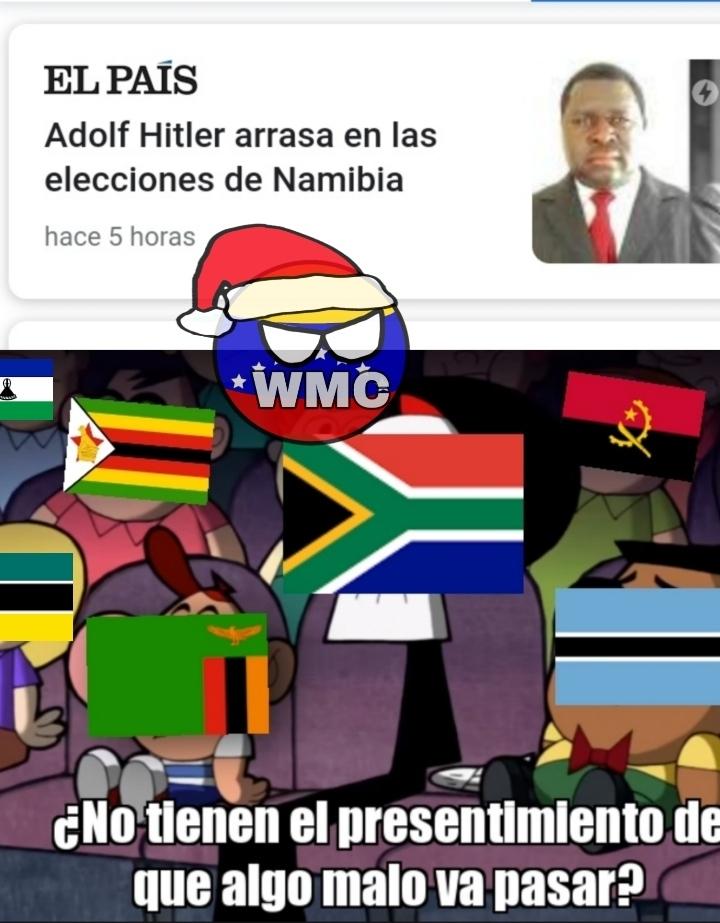 "Sudáfrica, Lesoto, Zambia, Botsuana, Angola, Mozambique y Zimbabue aparecen en este ""meme"""