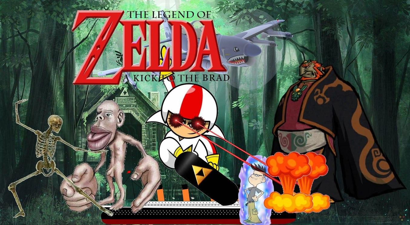 The legend of Zelda a Kick to the Brad - meme