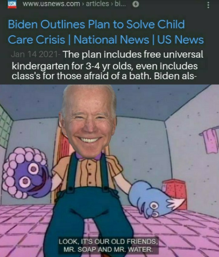 Joe Biden is a pedophile - meme