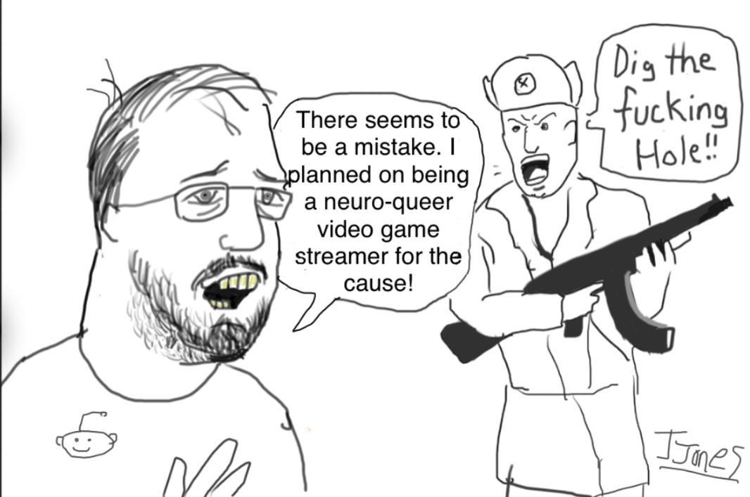 Neuro queer video game stream dreams - meme