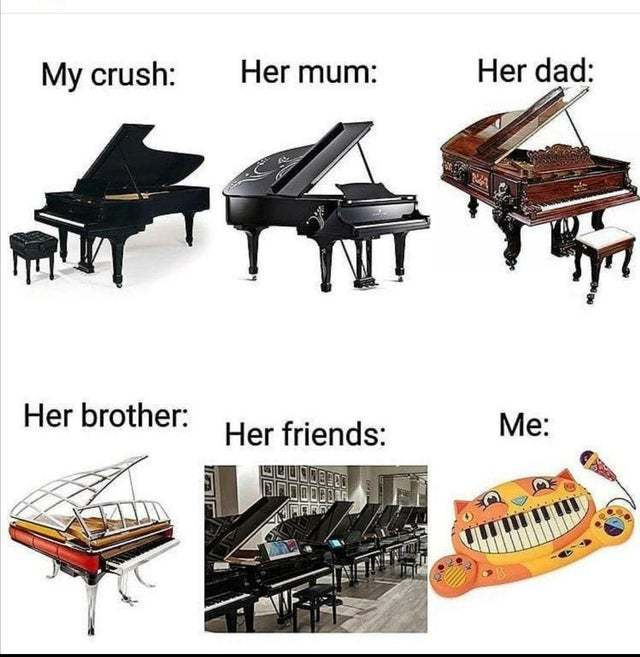 It is all about pianos - meme