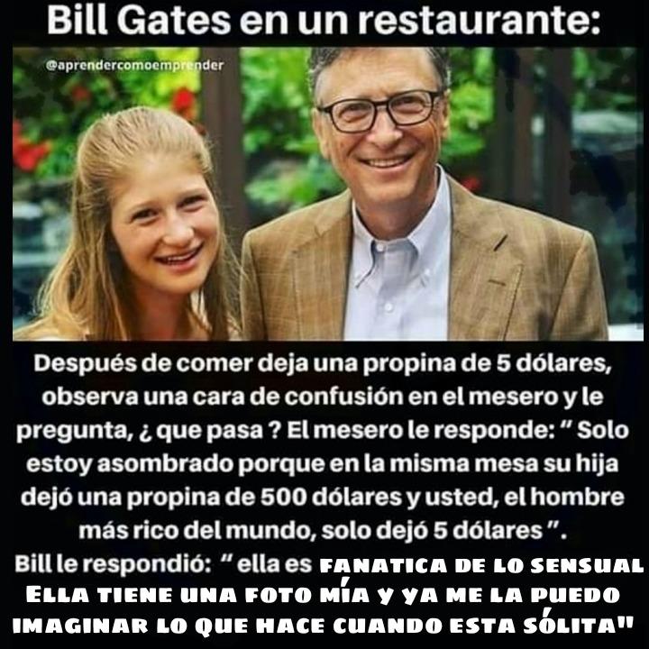 Bill Gates en un restaurante - meme