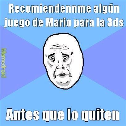 Yo:panik Mario:mamá mia - meme
