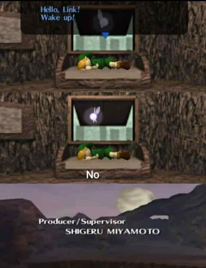 Link despierta, no *insertar créditos* - meme