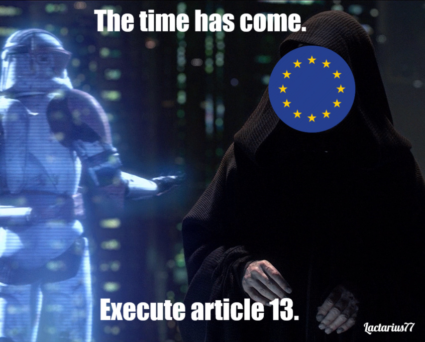 The EU is digging their grave - meme