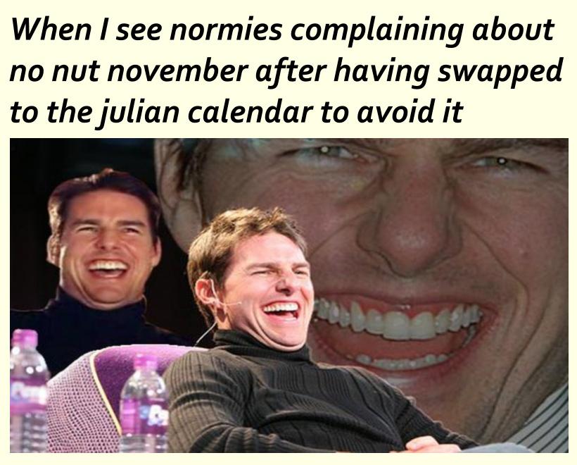 Then swap back to gregorian to make it shorter - meme