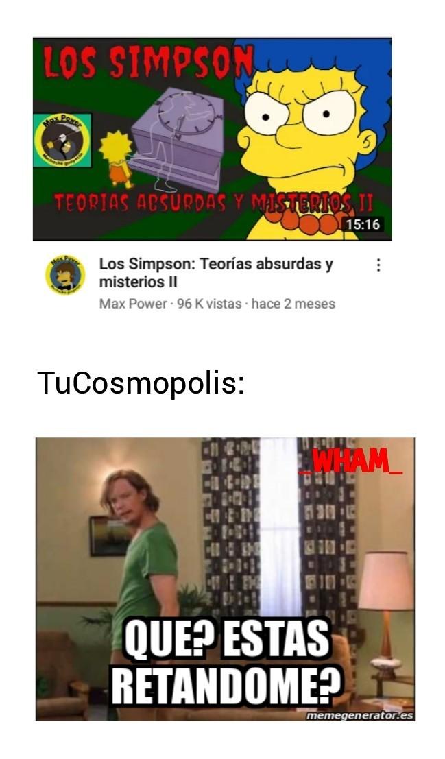 Lo encontré en recomendados en Youtube - meme