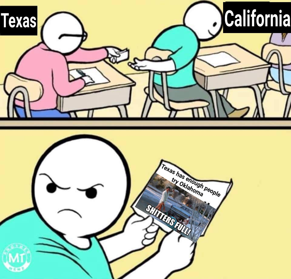 Texas is full,please stop moving here, traffic is bad:-( - meme