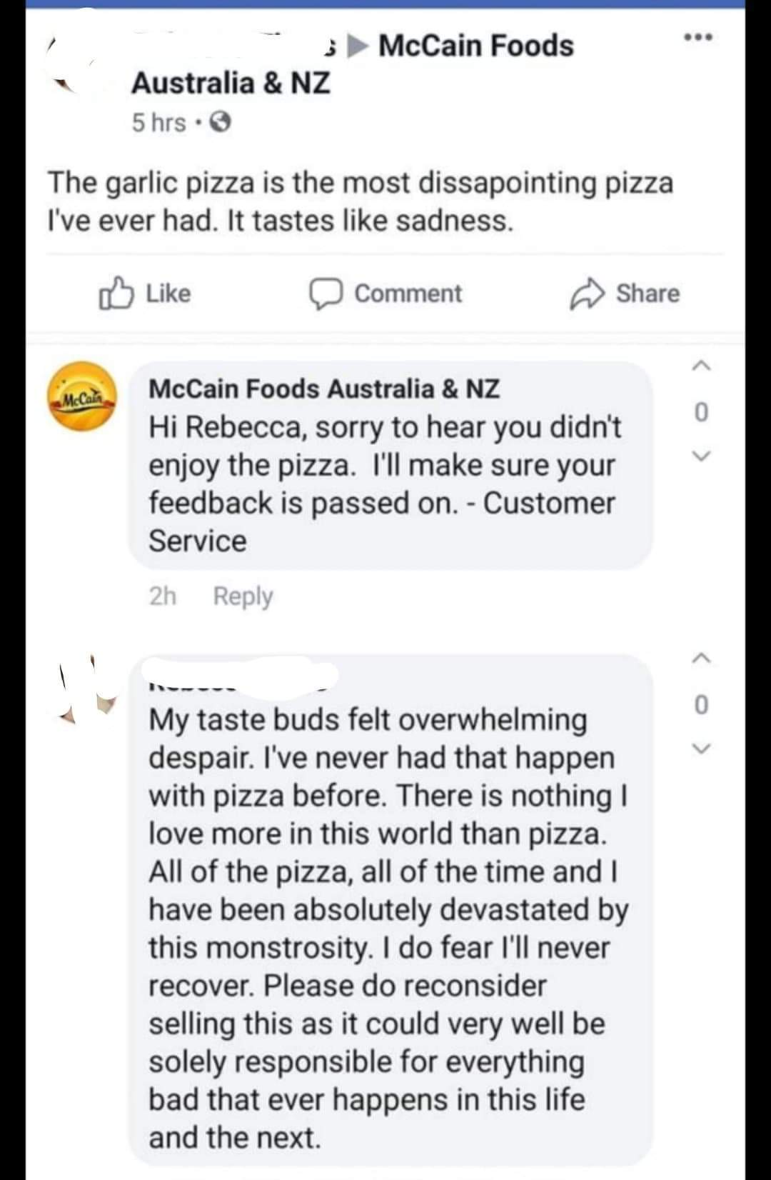 Pizza and sadness - meme