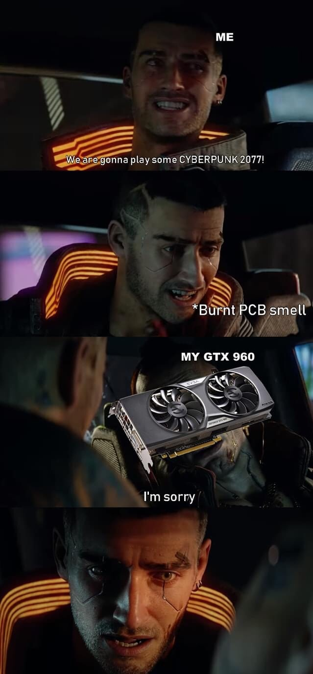 My 1080 Ti is crying, I expect it to die when Crysis remastered comes out - meme
