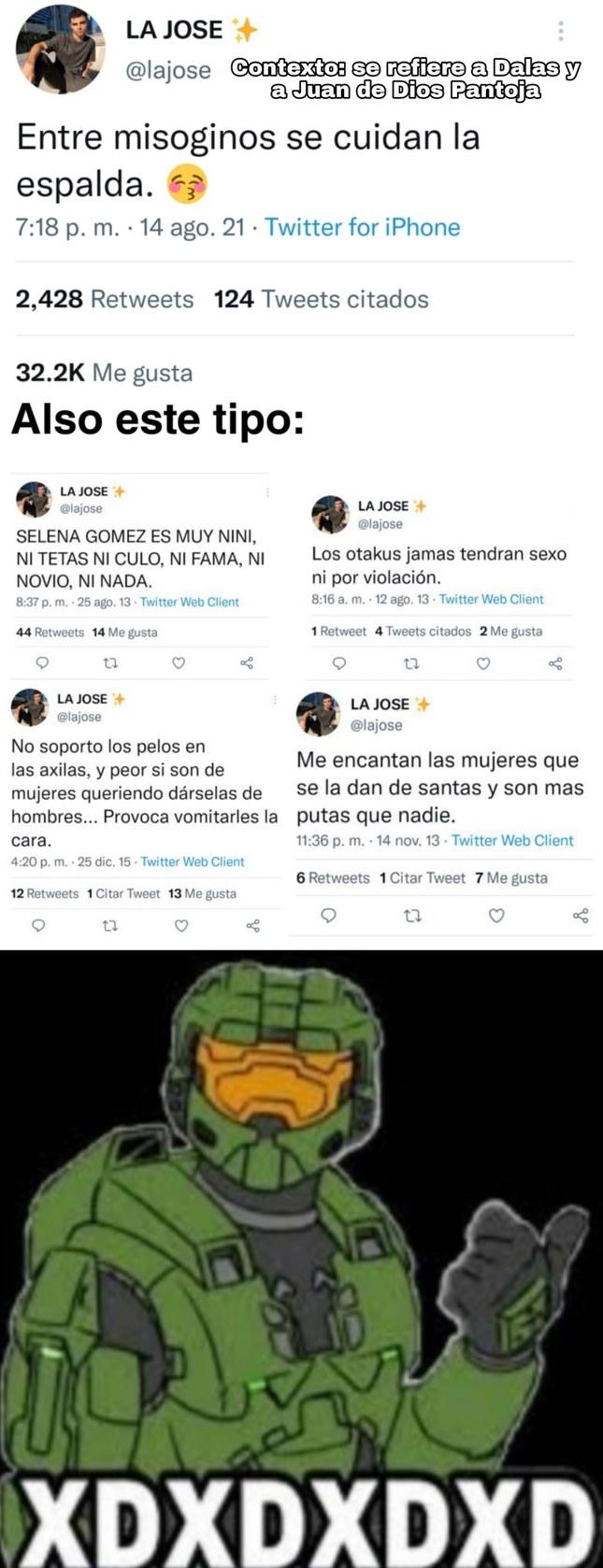 Contexto: el tipo del tweet es amigo de la divaza y aparece en su podcast (más contexto en los comentarios) - meme