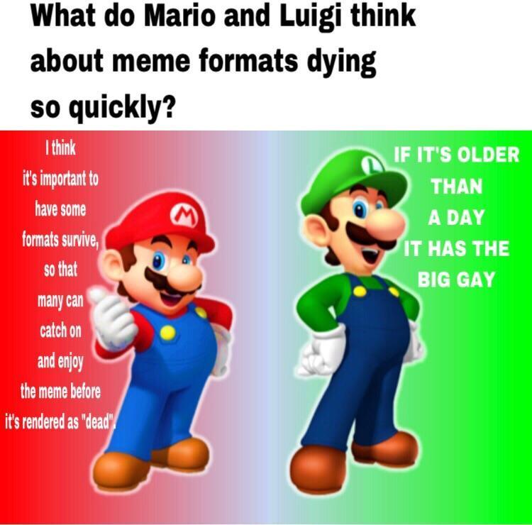 Mario Bros' Views - meme
